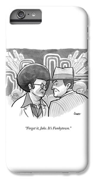 Jack Nicholson iPhone 7 Plus Case - A 70's Disco Man Speaks To Jack Nicholson's by Benjamin Schwartz