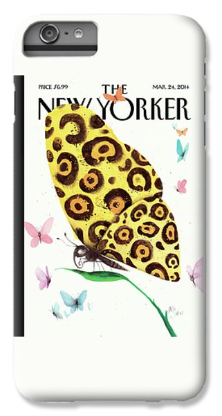 Cheetah iPhone 7 Plus Case - A Butterfly With A Cheetah Pattern Rests by Ana Juan