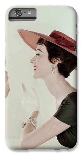 A Model Wearing A Sun Hat And Dress IPhone 7 Plus Case by John Rawlings