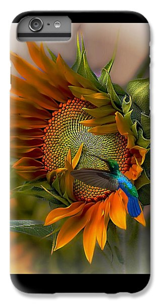 Sunflower iPhone 7 Plus Case - A Moment In Time by John  Kolenberg