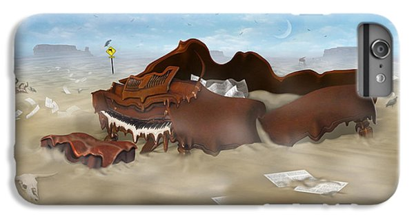 Buzzard iPhone 7 Plus Case - A Slow Death In Piano Valley - Panoramic by Mike McGlothlen