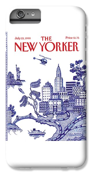 Helicopter iPhone 7 Plus Case - A View Of New York City by Pamela Paparone