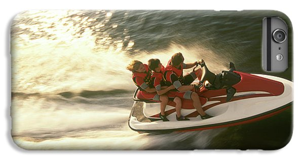 Jet Ski iPhone 7 Plus Case - Aerial View A Family Racing by Joel Sheagren