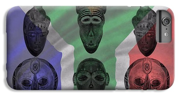 cba909a7e Traditional African Masks iPhone 7 Plus Case - Africa Flag And Tribal Masks  by Dan Sproul