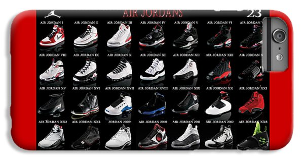 Athletes iPhone 7 Plus Case - Air Jordan Shoe Gallery by Brian Reaves