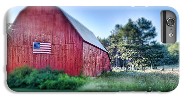 IPhone 7 Plus Case featuring the photograph American Barn by Sebastian Musial