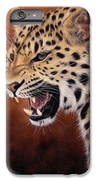 Amur Leopard Painting IPhone 7 Plus Case by Rachel Stribbling