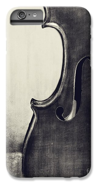 Violin iPhone 7 Plus Case - An Old Violin In Black And White by Emily Kay