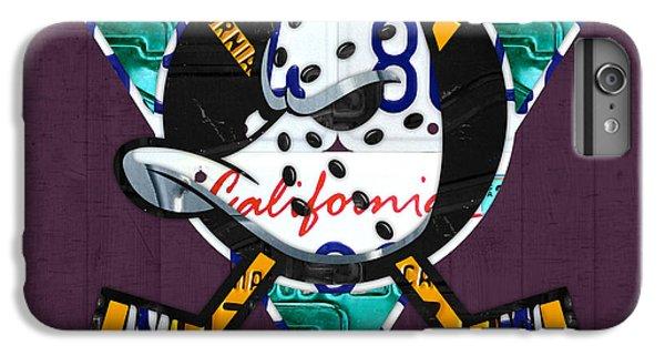 Duck iPhone 7 Plus Case - Anaheim Ducks Hockey Team Retro Logo Vintage Recycled California License Plate Art by Design Turnpike