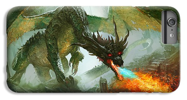 Fantasy iPhone 7 Plus Case - Ancient Dragon by Ryan Barger
