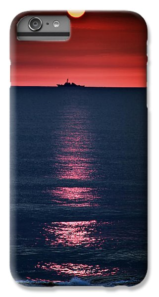 Moon iPhone 7 Plus Case - And All The Ships At Sea by Tom Mc Nemar