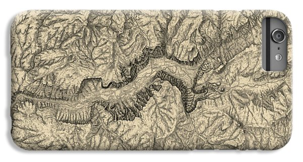 Antique Map Of Yosemite National Park By George M. Wheeler - Circa 1884 IPhone 7 Plus Case by Blue Monocle