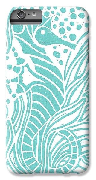 Aqua Seahorse IPhone 7 Plus Case by Stephanie Troxell