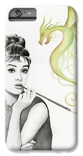 Dragon iPhone 7 Plus Case - Audrey And Her Magic Dragon by Olga Shvartsur