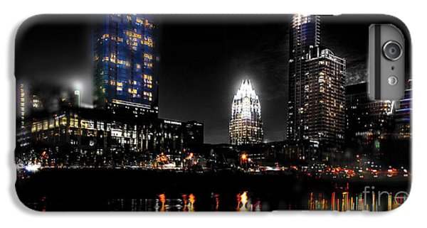 Austin Night Skyline Reflections  IPhone 7 Plus Case by Gary Gibich
