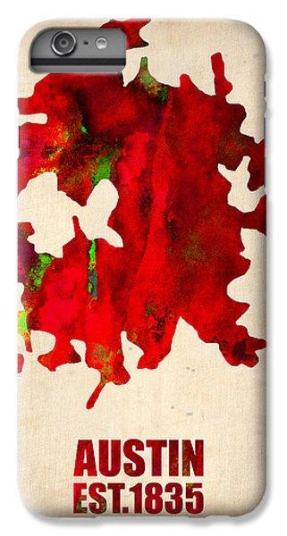 Austin Watercolor Map IPhone 7 Plus Case by Naxart Studio