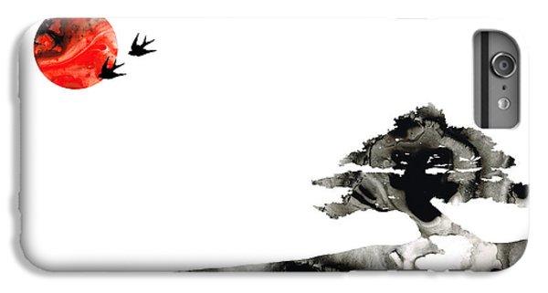 Swallow iPhone 7 Plus Case - Awakening - Zen Landscape Art by Sharon Cummings
