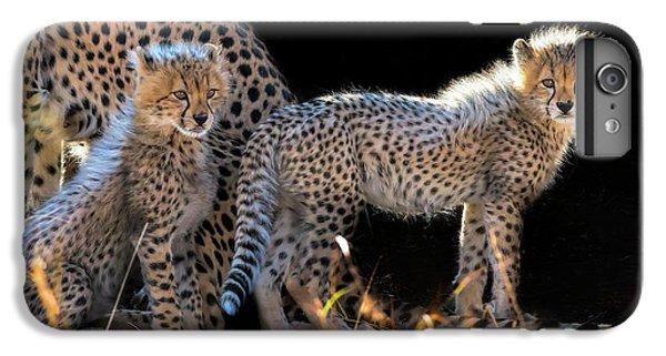 Cheetah iPhone 7 Plus Case - Baby Cheetahs by Jun Zuo