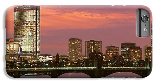 City Sunset iPhone 7 Plus Case - Back Bay, Boston, Massachusetts, Usa by Panoramic Images