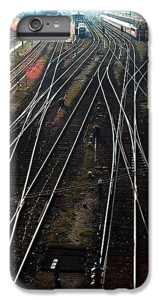 IPhone 7 Plus Case featuring the photograph Bahnhof Cottbus by Marc Philippe Joly