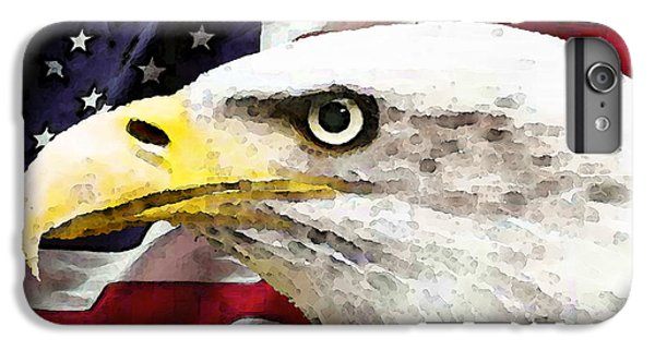 Bald Eagle Art - Old Glory - American Flag IPhone 7 Plus Case
