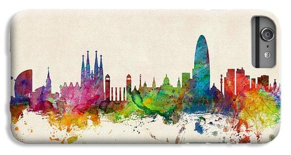 Barcelona iPhone 7 Plus Case - Barcelona Spain Skyline by Michael Tompsett