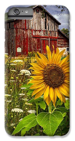 Sunflower iPhone 7 Plus Case - Barn Meadow Flowers by Debra and Dave Vanderlaan