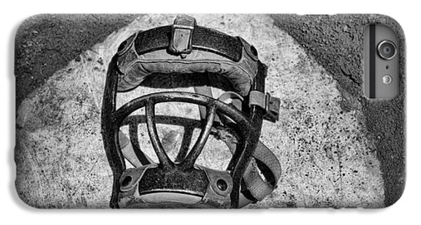 Baseball iPhone 7 Plus Case - Baseball Catchers Mask Vintage In Black And White by Paul Ward