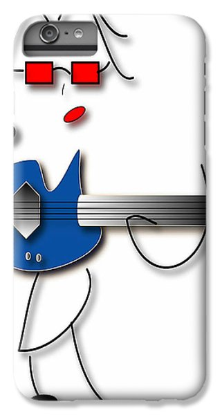 IPhone 7 Plus Case featuring the digital art Bass Guitar Girl by Marvin Blaine