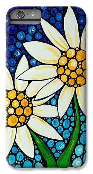 Daisy iPhone 7 Plus Case - Bathing Beauties - Daisy Art By Sharon Cummings by Sharon Cummings
