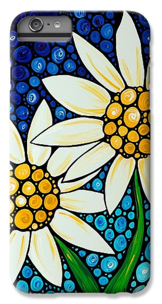 Daisy iPhone 7 Plus Case - Bathing Beauties - Daisy Art By Sharon Cummings by Sharon Cummings