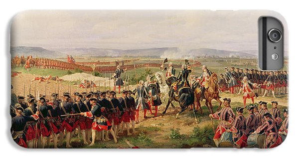 Swallow iPhone 7 Plus Case - Battle Of Fontenoy, 11 May 1745 The French And Allies Confronting Each Other by Felix Philippoteaux