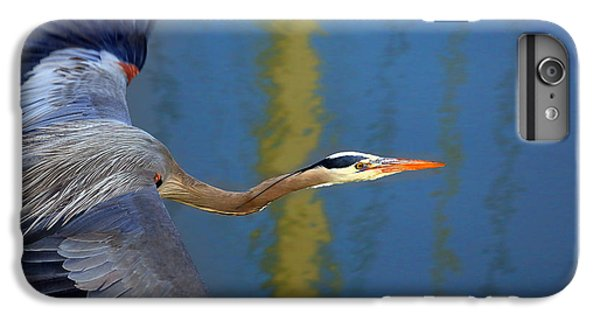 Bay Blue Heron Flight IPhone 7 Plus Case by Robert Bynum