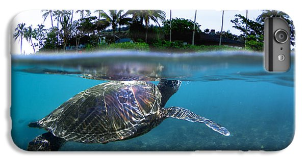 Turtle iPhone 7 Plus Case - Beneath The Palms by Sean Davey