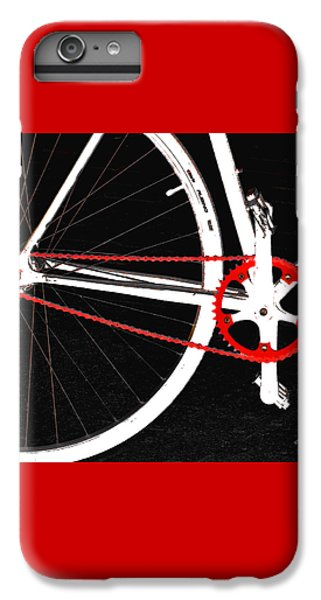 Bicycle iPhone 7 Plus Case - Bike In Black White And Red No 2 by Ben and Raisa Gertsberg