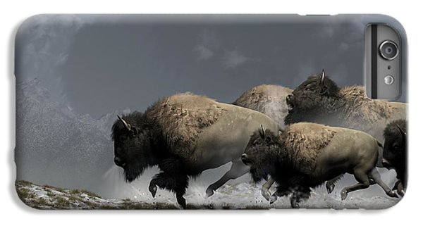 Bison Stampede IPhone 7 Plus Case by Daniel Eskridge