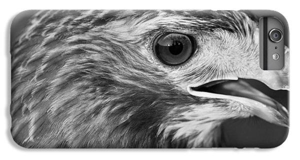 Black And White Hawk Portrait IPhone 7 Plus Case by Dan Sproul
