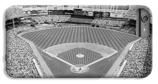 Yankee Stadium iPhone 7 Plus Case - Black And White Yankee Stadium by Horsch Gallery