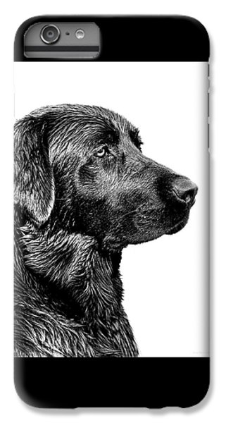 Prairie Dog iPhone 7 Plus Case - Black Labrador Retriever Dog Monochrome by Jennie Marie Schell