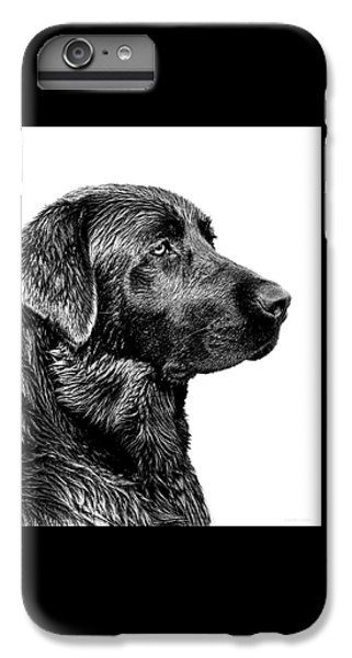 Black Labrador Retriever Dog Monochrome IPhone 7 Plus Case