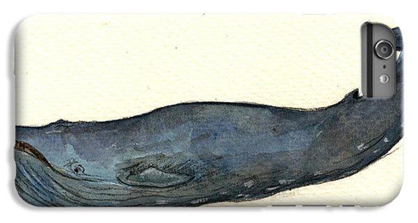 Blue Whale IPhone 7 Plus Case by Juan  Bosco