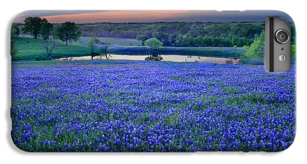 Bluebonnet Lake Vista Texas Sunset - Wildflowers Landscape Flowers Pond IPhone 7 Plus Case