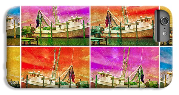 Shrimp Boats iPhone 7 Plus Case - Boat Of A Different Color by Betsy Knapp