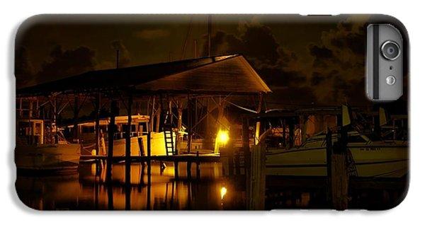Shrimp Boats iPhone 7 Plus Case - Boathouse Night Glow by Michael Thomas