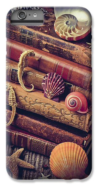 Books And Sea Shells IPhone 7 Plus Case by Garry Gay