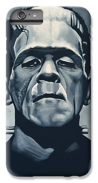 Portraits iPhone 7 Plus Case - Boris Karloff As Frankenstein  by Paul Meijering