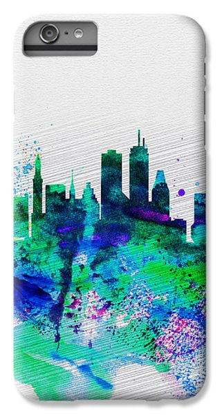 Boston iPhone 7 Plus Case - Boston Watercolor Skyline by Naxart Studio