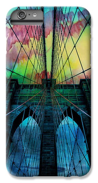 Blue iPhone 7 Plus Case - Psychedelic Skies by Az Jackson