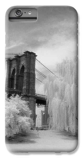 IPhone 7 Plus Case featuring the photograph Brooklyn Bridge Willows by Dave Beckerman