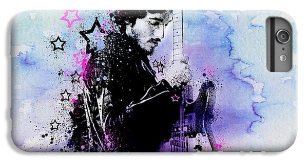 Bruce Springsteen iPhone 7 Plus Case - Bruce Springsteen Splats And Guitar 2 by Bekim Art